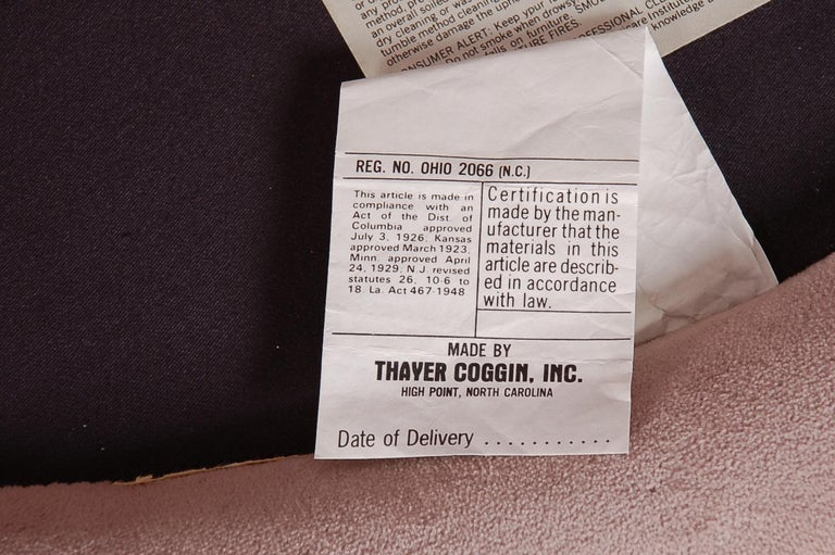 Brass Mid-Century Modern Swivel & Slipper Lounge by Milo Baughman for Thayer Coggin For Sale