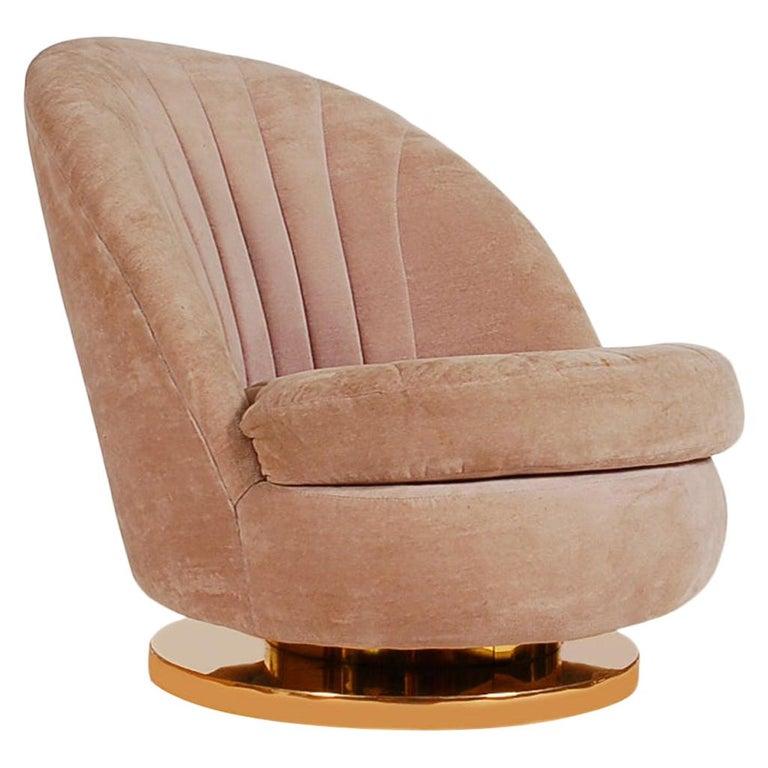 Mid-Century Modern Swivel & Slipper Lounge by Milo Baughman for Thayer Coggin For Sale