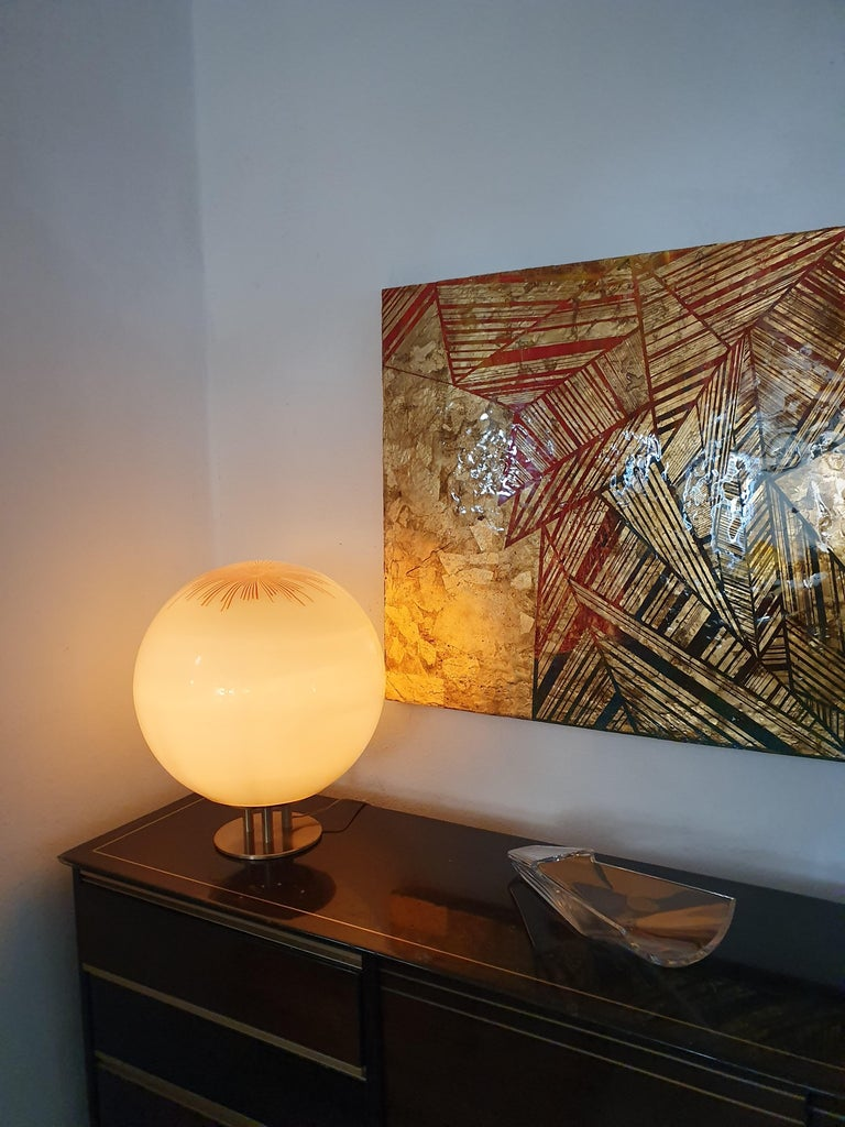 Italian Mid-Century Modern Table Lamp by La Murrina in Murano Glass, circa 1970 For Sale