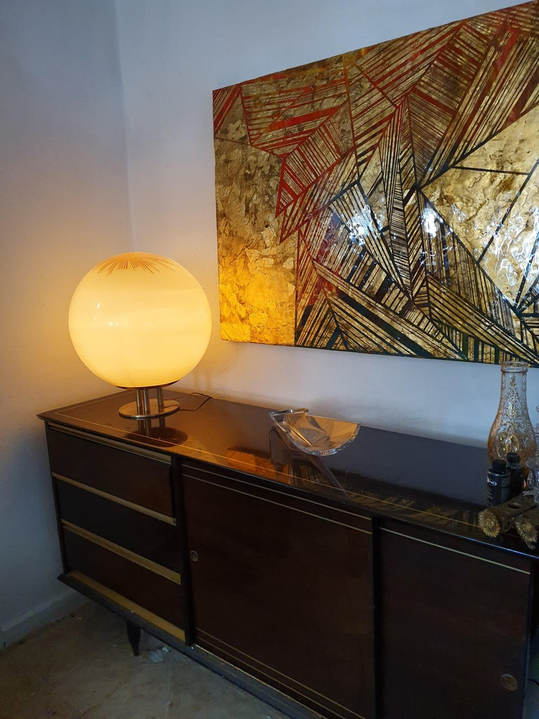 Mid-Century Modern Table Lamp by La Murrina in Murano Glass, circa 1970 In Good Condition For Sale In Merida, Yucatan