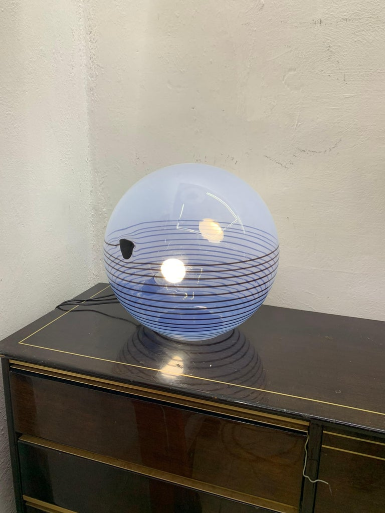 Mid-Century Modern Table Lamp by Mazzega in Murano Glass, circa 1960 In Good Condition In Merida, Yucatan