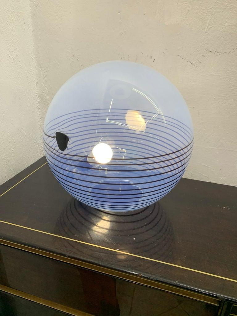Mid-Century Modern Table Lamp by Mazzega in Murano Glass, circa 1960 3