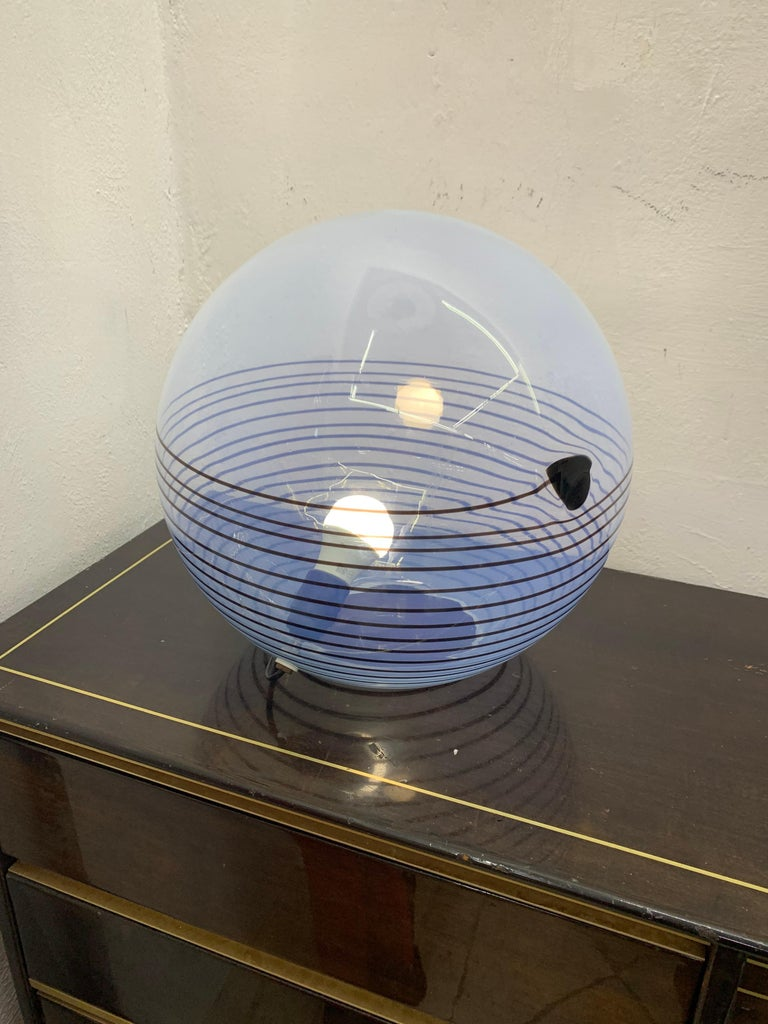 Mid-Century Modern Table Lamp by Mazzega in Murano Glass, circa 1960 4