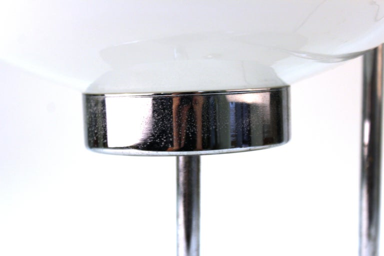 Mid-Century Modern Table Lamp in Chrome with Domed Lights For Sale 2