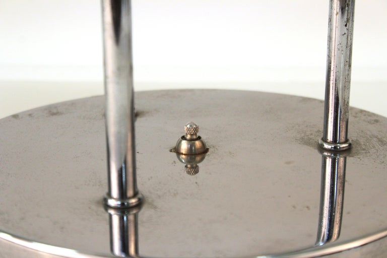 Mid-Century Modern Table Lamp in Chrome with Domed Lights For Sale 3