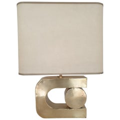 Mid-Century Modern Table Lamp in the Manner of Pierre Cardin