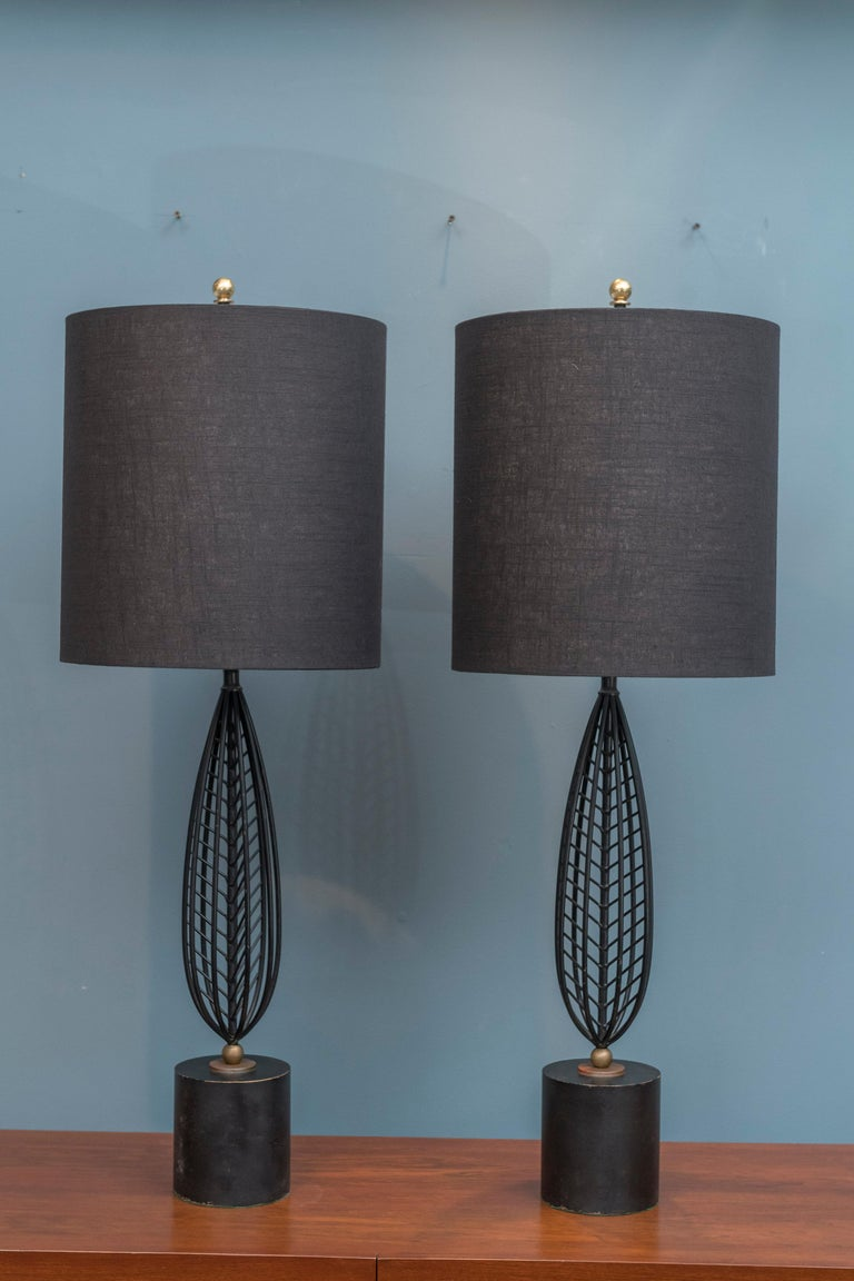 Metal Mid-Century Modern Table Lamps For Sale