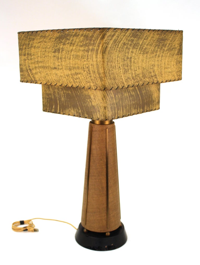 American Mid-Century Modern Table Lamps with Shades For Sale