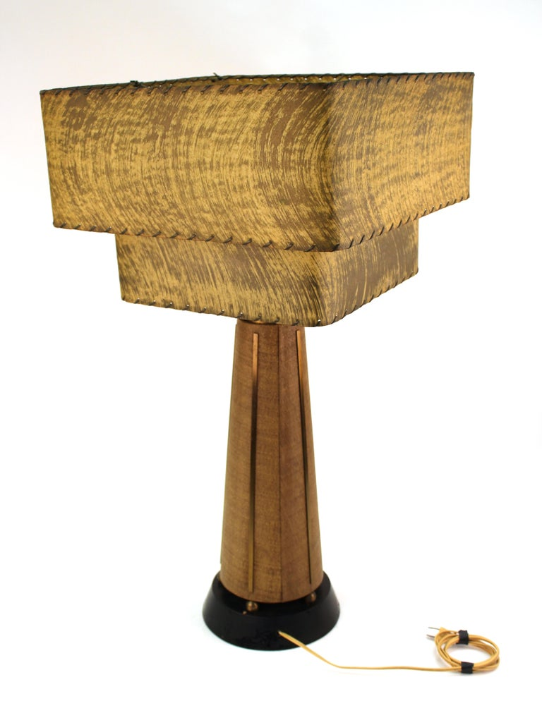 20th Century Mid-Century Modern Table Lamps with Shades For Sale