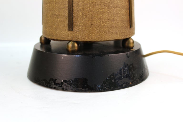 Mid-Century Modern Table Lamps with Shades For Sale 3