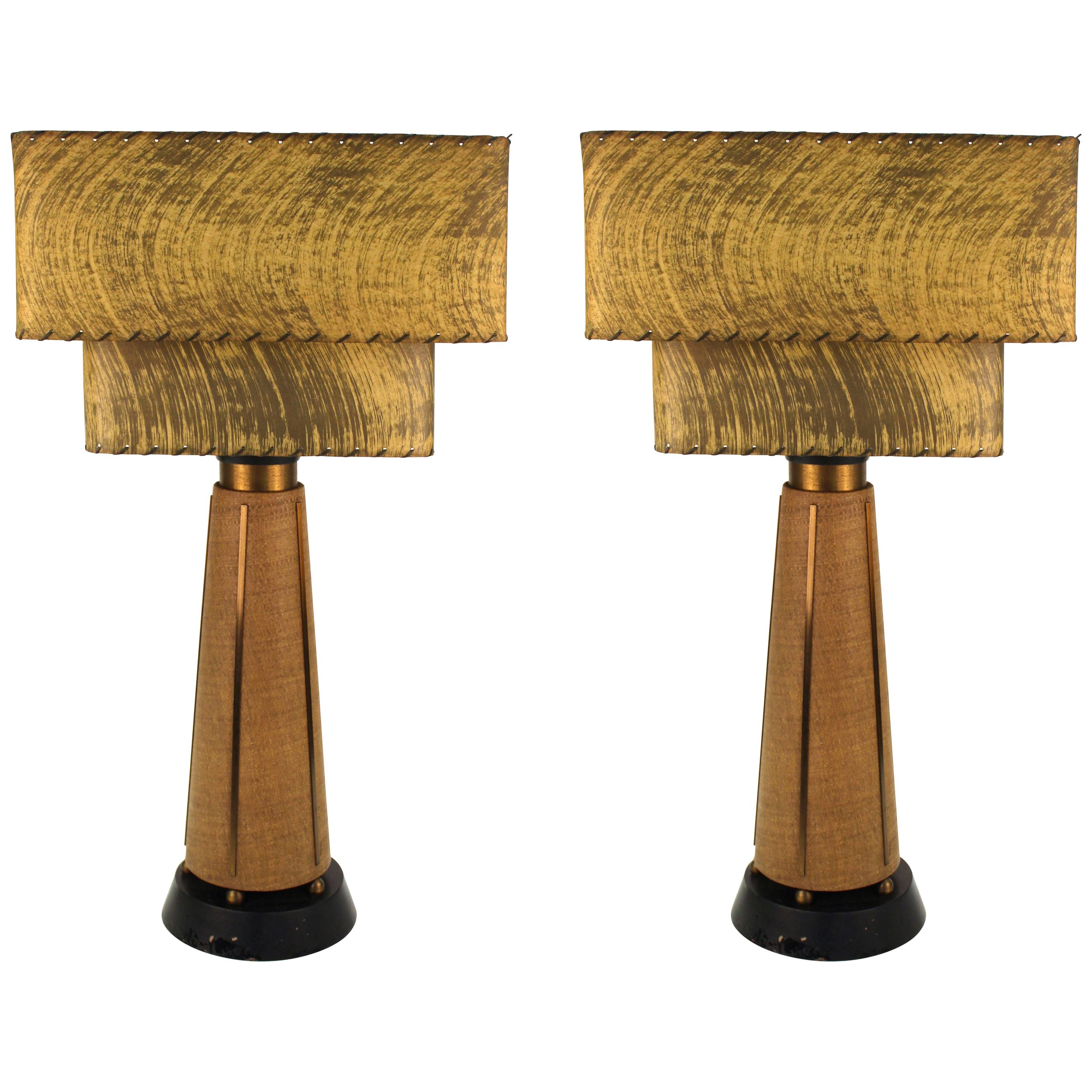 Mid-Century Modern Table Lamps with Shades