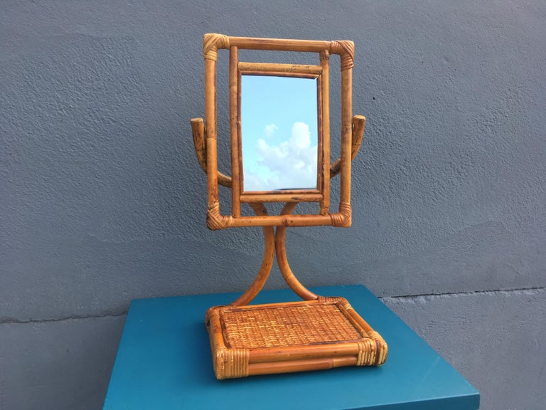 Mid-Century Modern Table Mirror For Sale 6