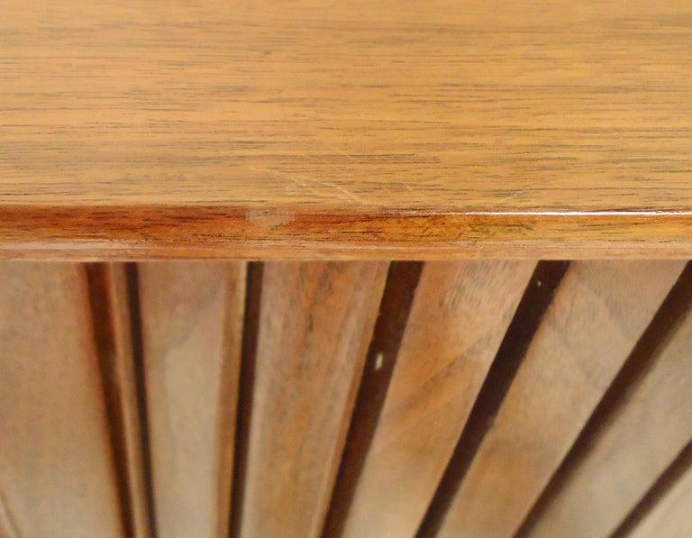 Mid-Century Modern Tambour Door Cabinet For Sale 1