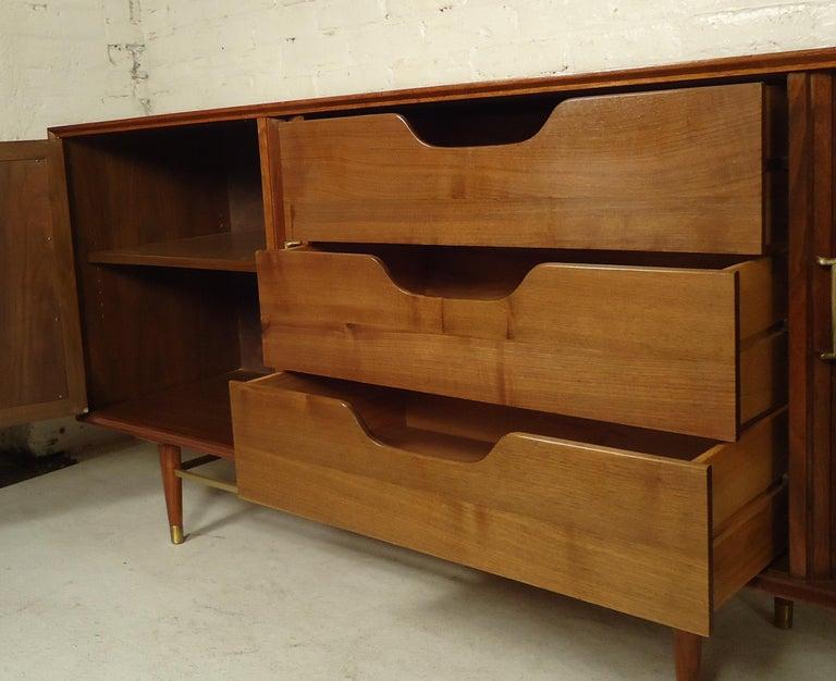 Mid-Century Modern Tambour Door Cabinet For Sale 2
