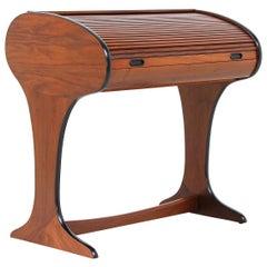 Mid-Century Modern Tambour-Door Writing Desk