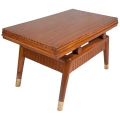 Mid-Century Modern Teak and Inlay Coffee Table