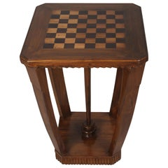 Mid-Century Modern Teak and Rosewood Chess or Checkerboard Table, Pair