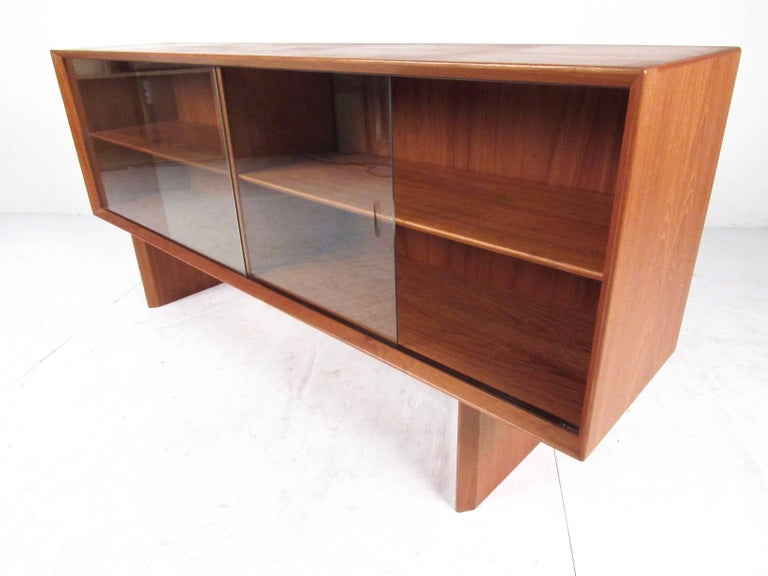 Danish Mid-Century Modern Teak Bookcase by Falster For Sale