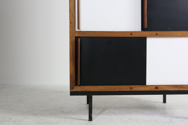 Mid-Century Modern Teak Cabinet, Wardrobe by Andre Sornay ...
