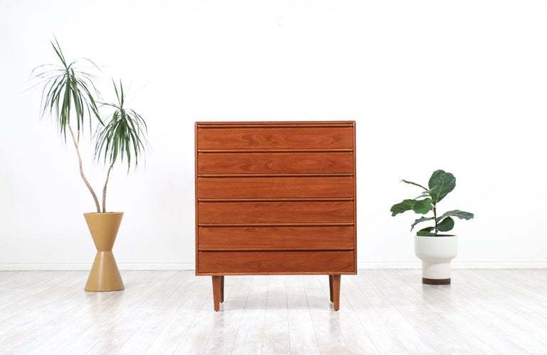 Mid-Century Modern teak chest of drawers by Westnofa.
