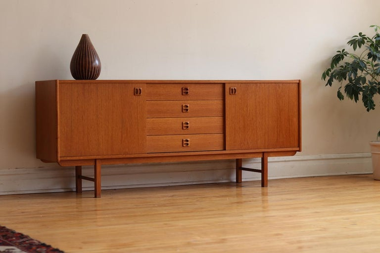Danish Credenza For Sale : Mid century modern teak danish credenza for sale at 1stdibs