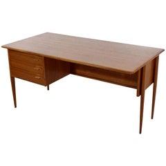 Mid-Century Modern Teak Danish Wood Desk Omann Vodder Style, 1960s