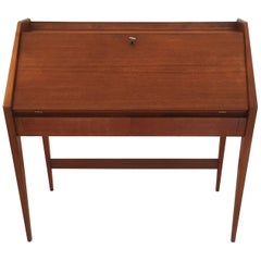 Mid-Century Modern Teak Desk, Writing Table by Walter Wirz for Wilhelm Renz