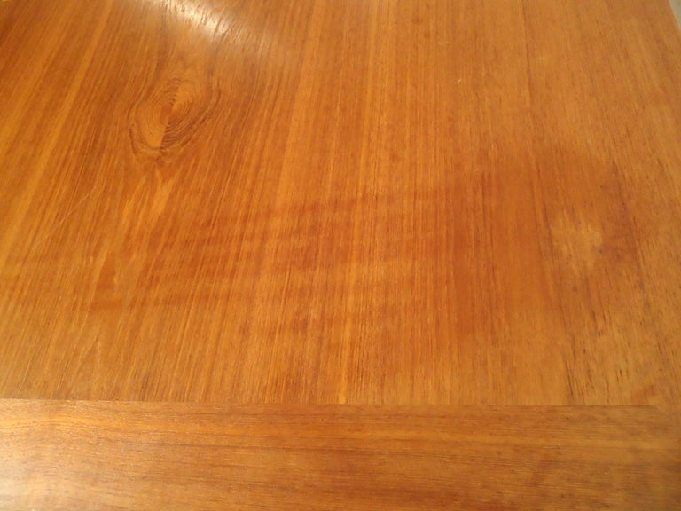 Mid-20th Century Mid-Century Modern Teak Dining Table For Sale