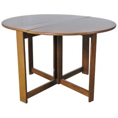 Mid-Century Modern Teak Drop-Leaf Table