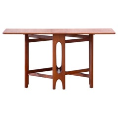 Mid-Century Modern Teak Folding Table, Smart Desk, 1960s