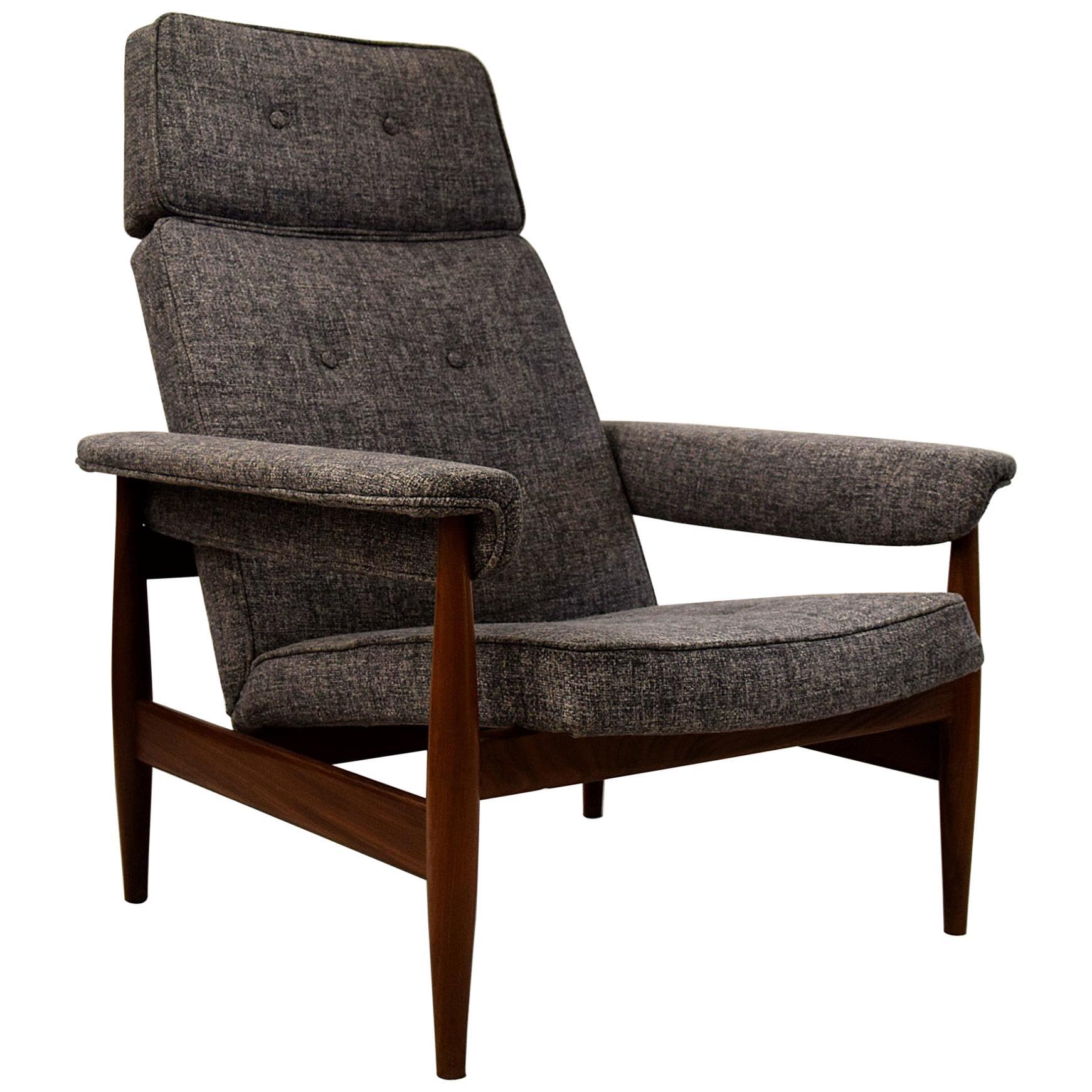 Mid century modern teak lounge chair