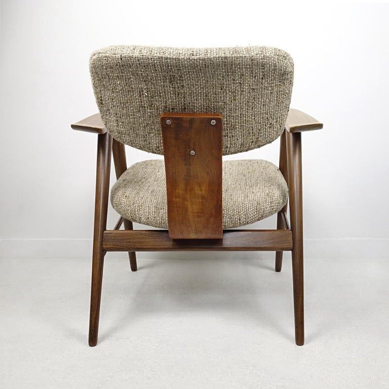 Fabric Mid-Century Modern Teak Lounge Chair FT14 by Cees Braakman for Pastoe For Sale