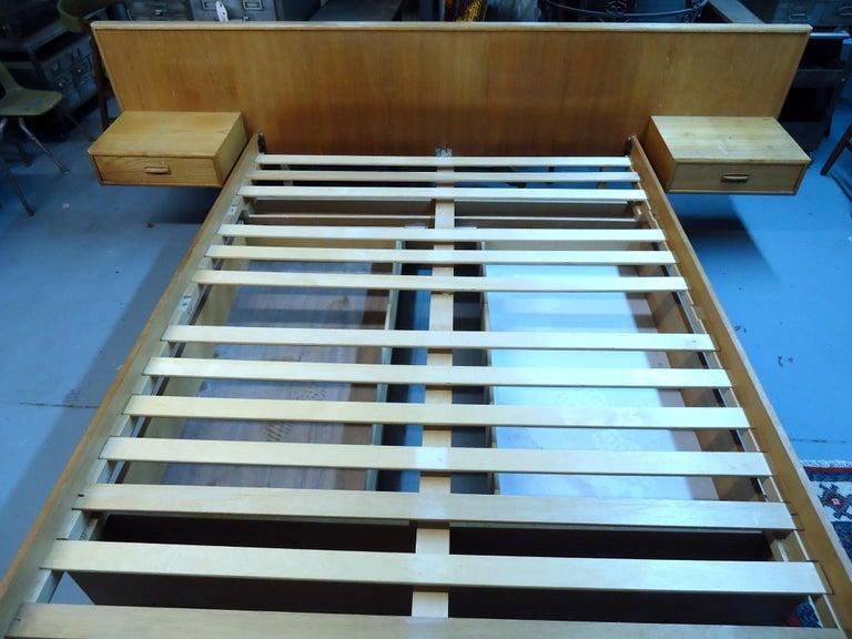 Mid-20th Century Mid-Century Modern Teak Queen Size Platform Bed For Sale