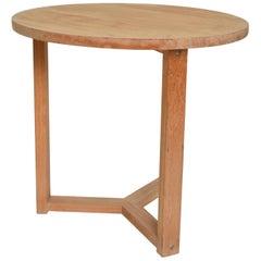 Mid-Century Modern Teak Round Side Table After McGuire San Francisco