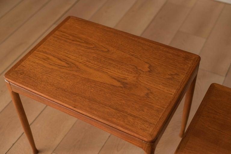Mid-Century Modern Teak Set of Nesting Tables For Sale 5