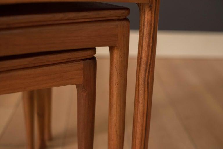 Mid-Century Modern Teak Set of Nesting Tables For Sale 7