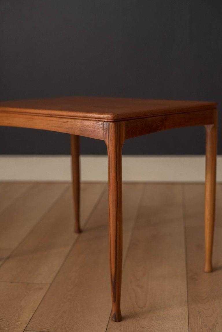 Mid-Century Modern Teak Set of Nesting Tables For Sale 1