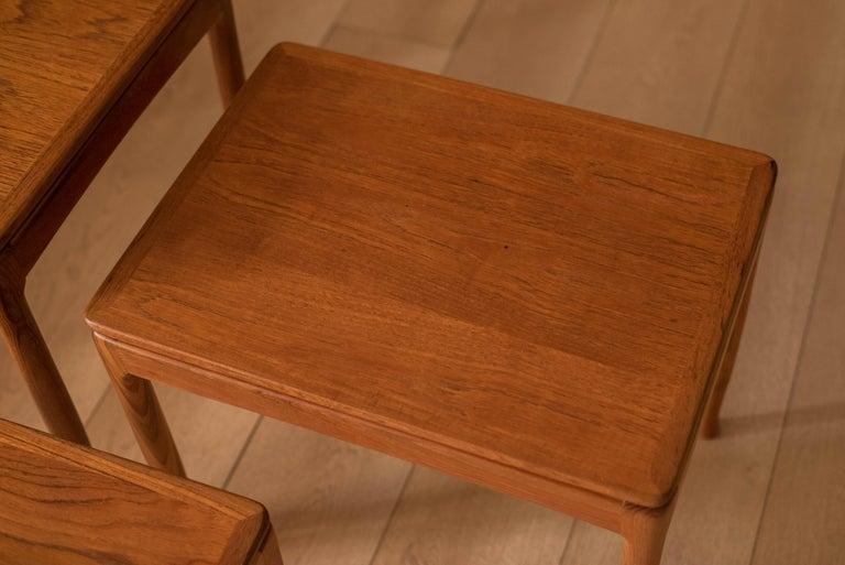 Mid-Century Modern Teak Set of Nesting Tables For Sale 4