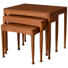 Mid-Century Modern Teak Set of Nesting Tables