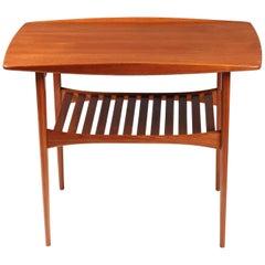 Scandinavian Modern Teak Side Table by Tove and Edvard Kindt-Larsen