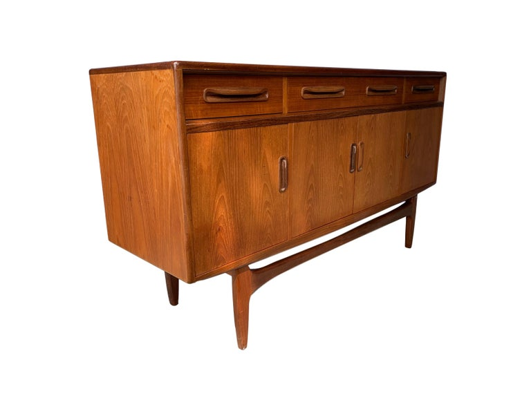 Mid-20th Century Mid-Century Modern Teak Sideboard Credenza by G-Plan, English, circa 1960 For Sale