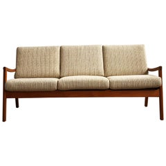 Mid-Century Modern Teak Sofa, Senator Series by Ole Wanscher for Cado