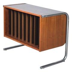 Mid-Century Modern Teak Vinyl Cabinet, 1970s