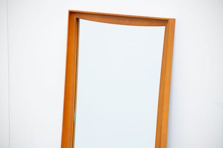 Danish Mid-Century Modern Teak Wall Mirror Full Length, 1960s For Sale