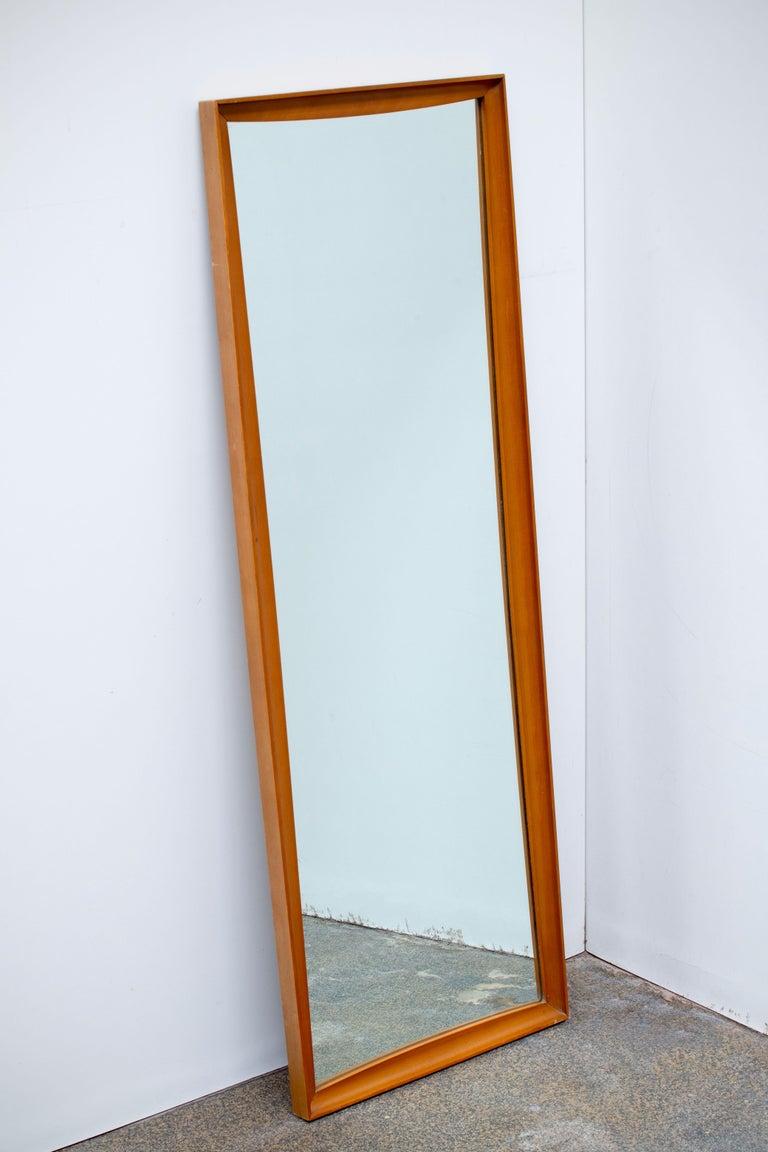 Mid-Century Modern Teak Wall Mirror Full Length, 1960s For Sale 2