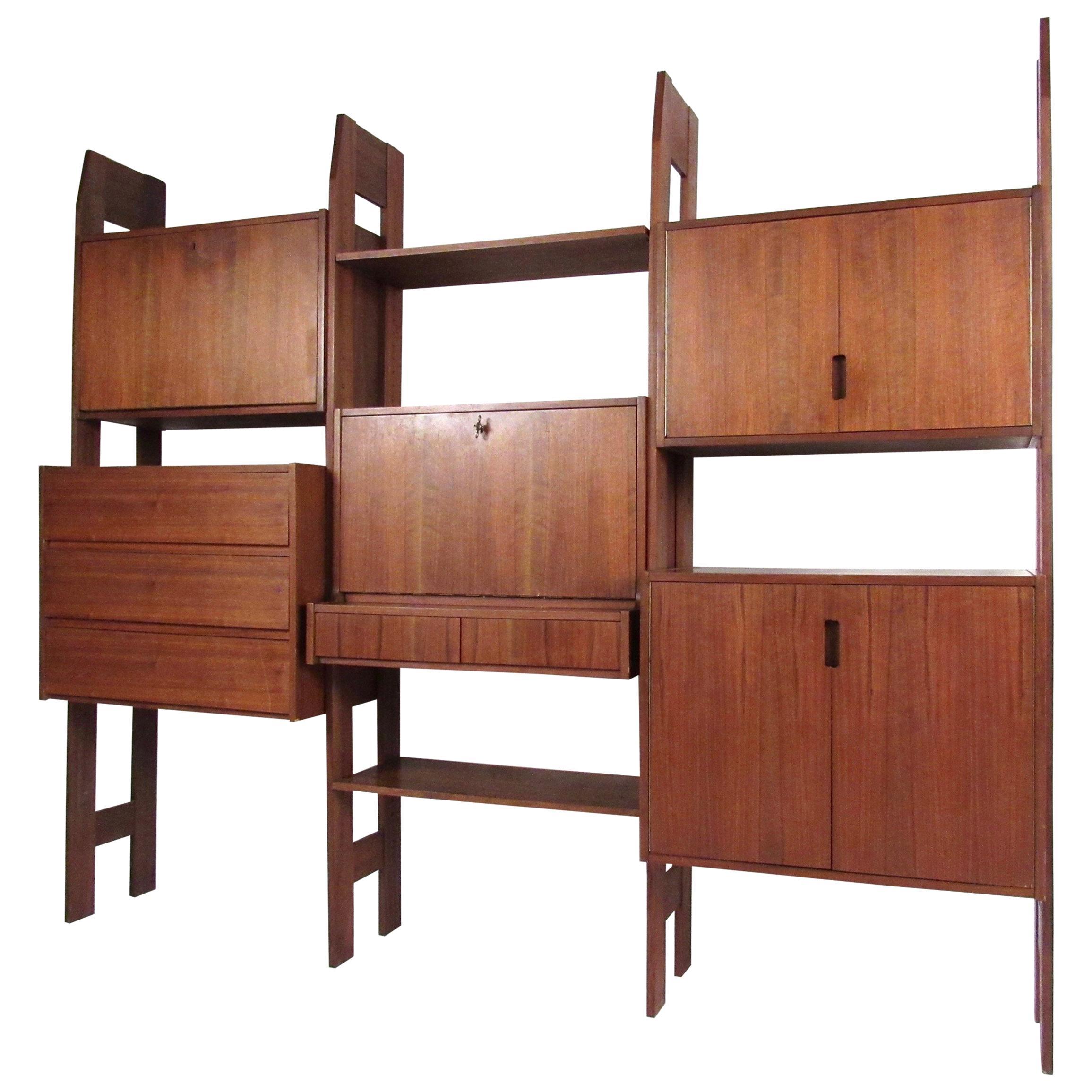 Mid-Century Modern Teak Wall Unit or Bookshelf