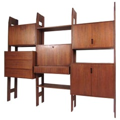 Mid-Century Modern Teak Wall Unit or Bookshelf