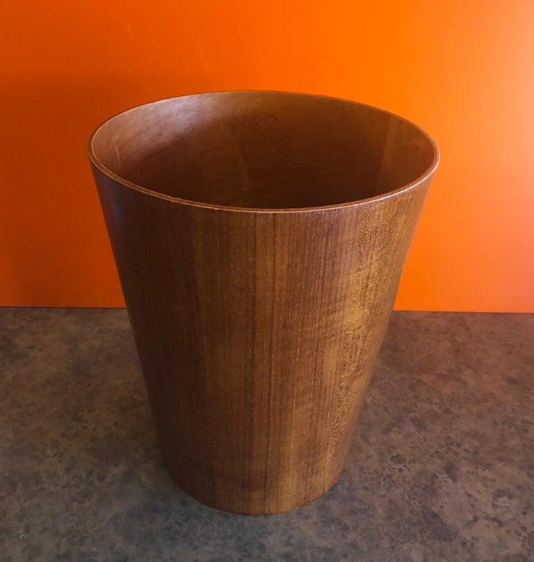 Scandinavian Modern Mid-Century Modern Teak Waste Basket by Martin Aberg for Servex Rainbow