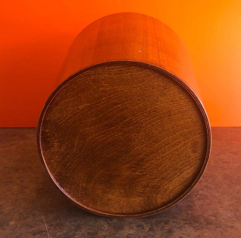 Mid-Century Modern Teak Waste Basket by Martin Aberg for Servex Rainbow 2