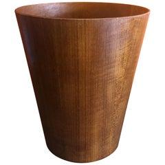Mid-Century Modern Teak Waste Basket by Martin Aberg for Servex Rainbow